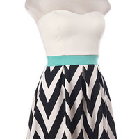 Sail the Seas Chevron Dress - Hazel & Olive