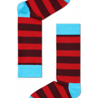Cool socks for fun people at HappySocks - Stripe red/black