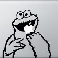 Its Cookie Monster num num Macbook Decal or laptop decal Sweet | madmaxdecals - Housewares on ArtFire