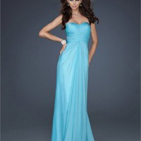 Simple Beautiful Pleated Gorgeous Open Back Chiffon Prom Dress PD1809