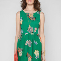 Flora Flora Dress in Green :: tobi