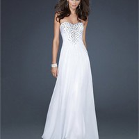 Beautiful Sweetheart Neckline With Beaded Chiffon Prom Dress PD1818