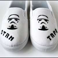 Womens Custom Shoes, Storm Trooper, Star Wars Shoes, Women's Custom shoes, Shoes, Handpainted shoes, Painted Shoes, Painted Women's Shoes