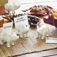 Porcellino Name Card Holders