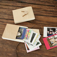 Wood Instax Mini Album Pouch