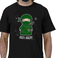Irish Ninja! With Shuriken T-shirt from Zazzle.com