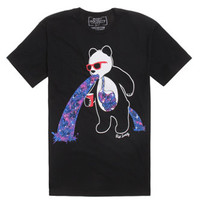 Riot Society Panda Puke 2 T-Shirt - Mens Tee - Black -