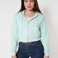 Cropped Flex Fleece Zip Hoodie