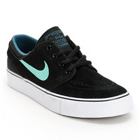 Nike SB Stefan Janoski GS Black, Crystal Mint, & Night Factor Boys Shoe