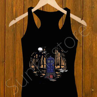 Tank Top _ The Nightmare Before Christmas Tardis Size S,M,L,XL,XXL For Men's And Girl