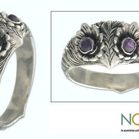 Sterling Silver 'Owl Wisdom' Amethyst Ring (Indonesia)   Overstock.com