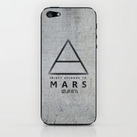 30 Seconds to Mars - stencil on brick wall iPhone & iPod Skin by sky0323