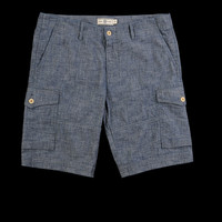 UNIONMADE - J. Press York St. - Chambray Howe Cargo Short in Dark Rinse Denim