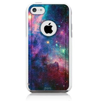 iPhone 5c Case White Galaxy Nebula (Generic for Otterbox Commuter)