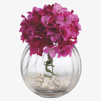 FLOREO MULTI Fabric Artificial hydrangea bouquet with vase - Accessories - Habitat