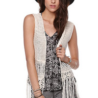 LA Hearts Crochet Fringe Vest at PacSun.com