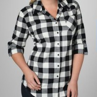 Roll Cuff Flannel Shirt | Fashion Bug