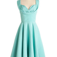 Trashy Diva Vintage Inspired Long Sleeveless A-line Aisle Be There Dress in Aqua
