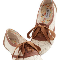 Strolling on a Sunday Flat in Brown | Mod Retro Vintage Flats | ModCloth.com
