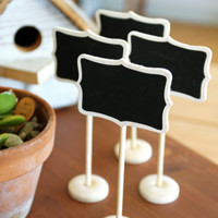 Mini Chalkboard Stands 4pcs for $10