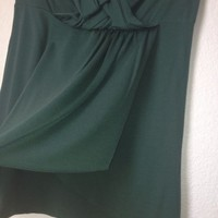Army Green Asymmetrical Tube Top By Charlotte Russe Size L