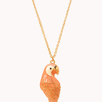 Quirky Bird Pendant Necklace