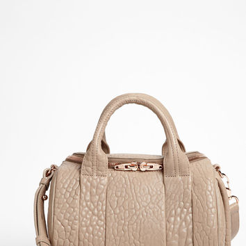 Alexander Wang 'Rockie - Rosegold' Leather Crossbody Satchel