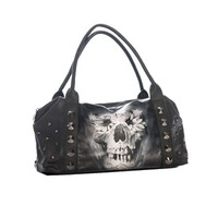 Flower Skull Handbag by Sullen Clothing