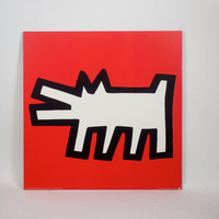 Keith Haring Barking Dog poster