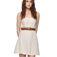 Paisley Lace Sweetheart Dress | FOREVER21 - 2015036834
