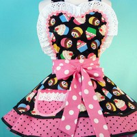 Cupcake Carhop RollerSkate Apron by dotsdiner on Etsy