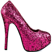 Bordello's Pink Emerald City - Hot Pink Glitter for 84.99 direct from heels.com