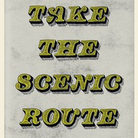 Take The Scenic Route Print - New Arrivals