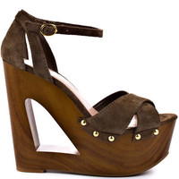 Jessica Simpson&#x27;s Brown Niki - Coffee Veronica Suede for 98.99 direct from heels.com