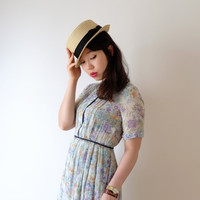 Light pastel vintage dress, XS - S, Japan