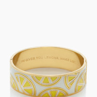when life gives you lemons idiom bangle - kate spade new york