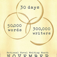 "NaNoWriMo ""Coffee Rings"" Poster 