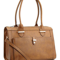 Structured Tab Bag | Brown | Accessorize