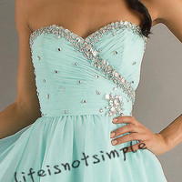Short prom dress/homecoming dress/prom dress/evening dress custom size/custom color
