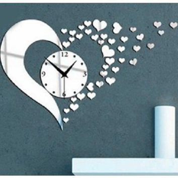 3d acrylic mirror wall sticker clock from amazon