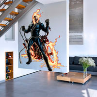 Ghost Rider Decal - Hero Printed and Die-Cut Vinyl Apply in any Flat Surface- Marvel Ghost Rider Decor