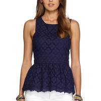 Ashton Ruffled Peplum Top - Lilly Pulitzer