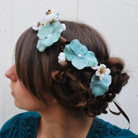 Ever after  Floral headpiece headwreath by HoneyandLaceDesigns