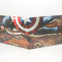 Comic Book Wallet// Avengers// Captain America