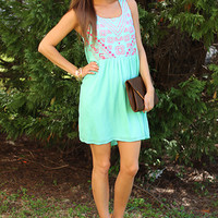 Across The Quad Dress, Mint