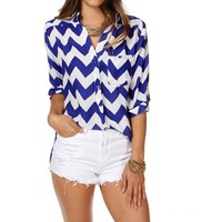 Royal Chevron Top