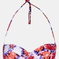Topshop 'Kaleidoscope Floral' Push-Up Bikini Top | Nordstrom