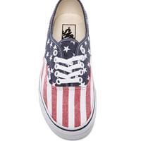 Vans Authentic Sneaker in Stars & Stripes