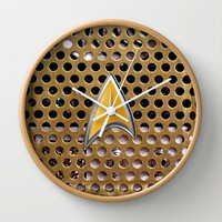 Retro Classic Old Vintage Star trek Communicator radio Decorative Circle Wall Clock Watch by Three Second