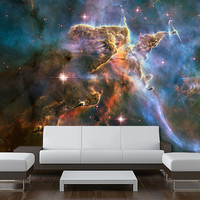 "Wall Ceiling MURAL space blue stars galaxy night sky decole poster 72""x72"""